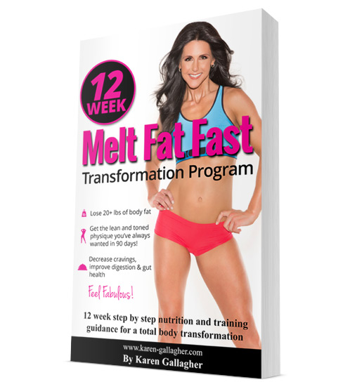 12 Week Melt Fat Fast Transformation Program by Karen Gallagher