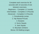 30 Day Squat Challenge – Day 3