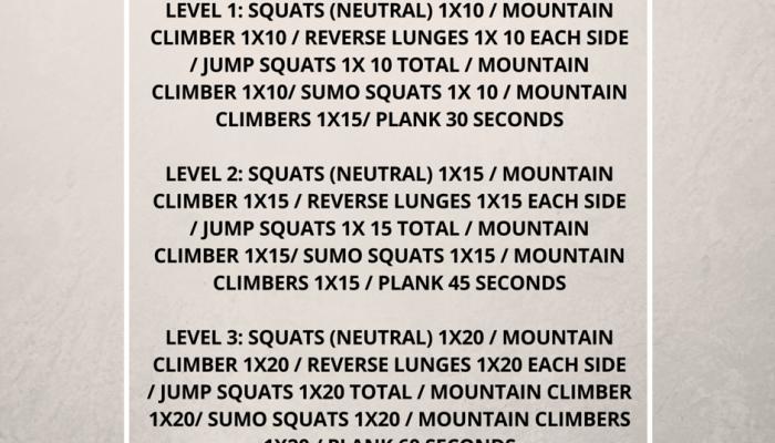 30 Day Squat Challenge – Day 1