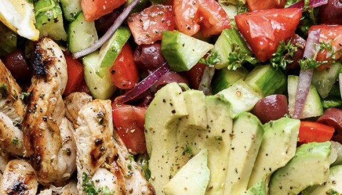 Lemon Herb Greek Chicken Salad